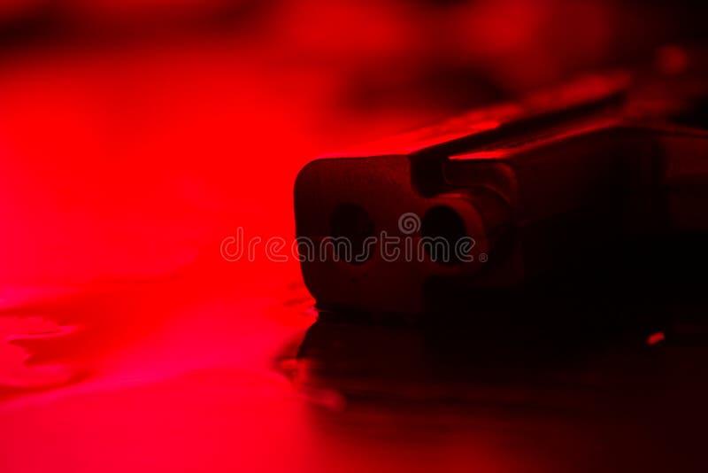 Wysokiego kontrasta wizerunek krwisty miejsce przestępstwa zdjęcie stock