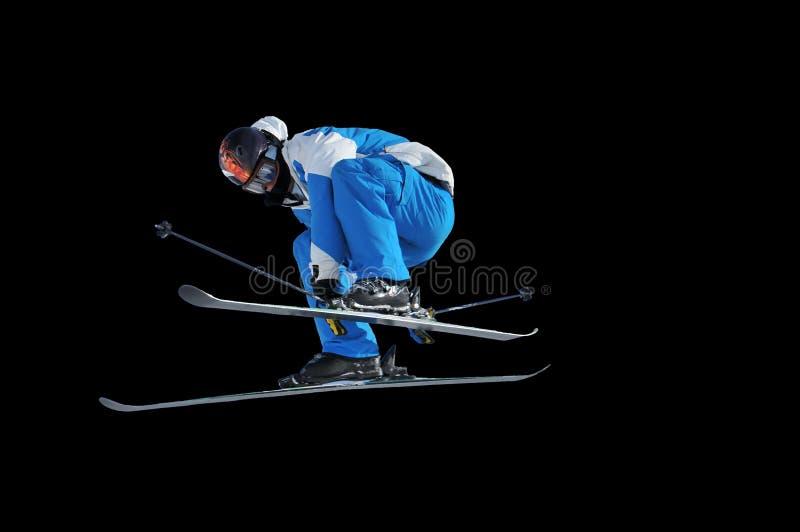 wysokiego skoku spełniania narciarka obraz stock