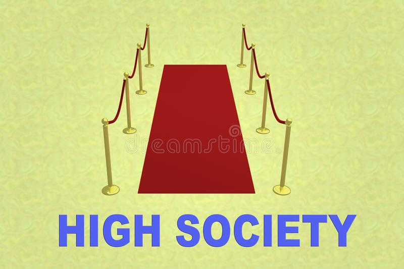 Wysokiego społeczeństwa pojęcie zdjęcie stock