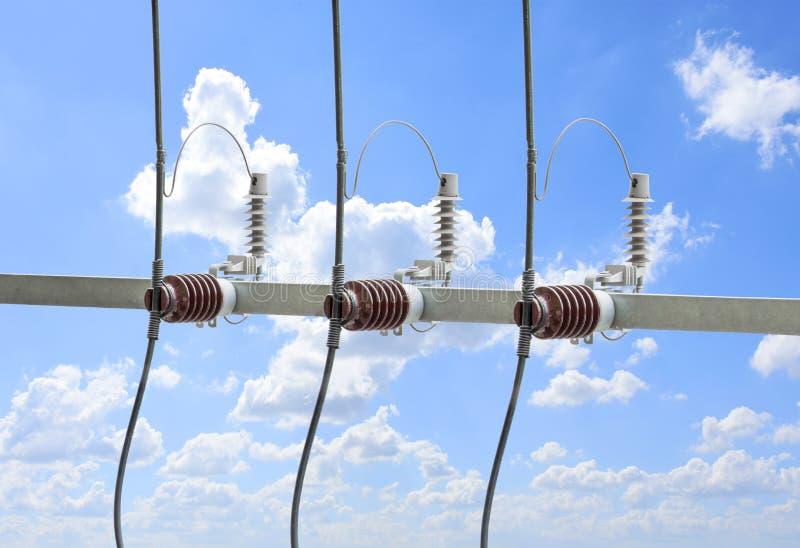 Wysokiego woltażu obwodu transformatorowy łamacz z elektrycznym insulat obraz stock