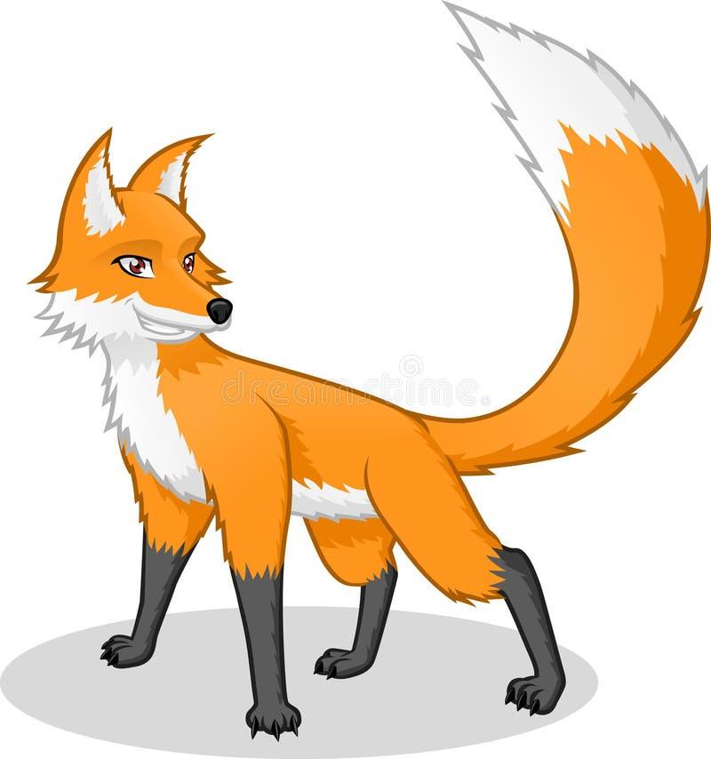 Wysokiej Jakości Fox kreskówki Wektorowa ilustracja ilustracja wektor
