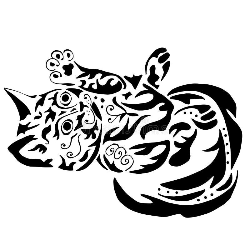 Wysokiej jakości kiciunia tatuaż royalty ilustracja