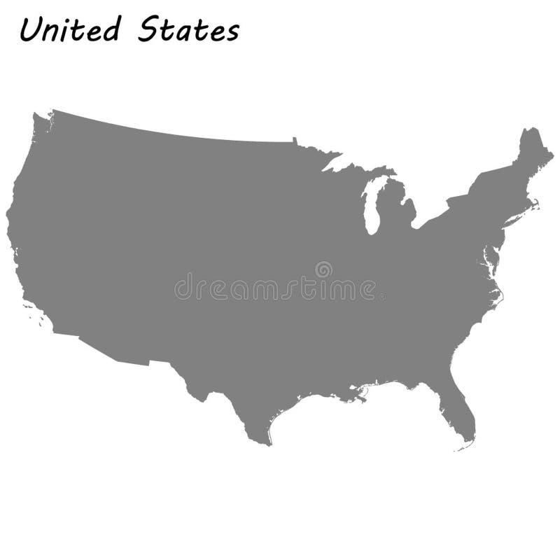 Wysokiej jakości mapa ilustracji