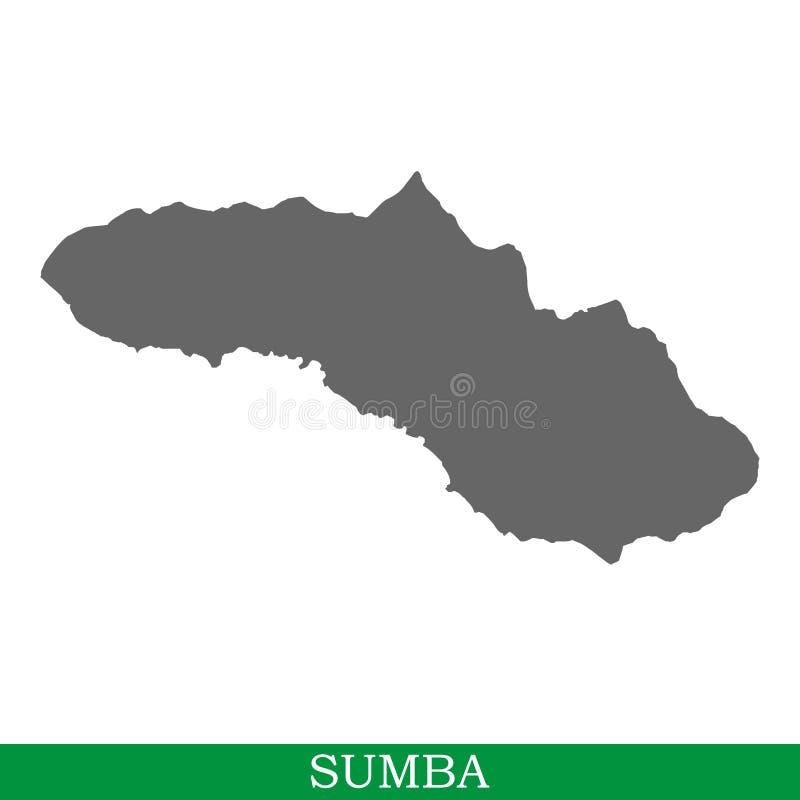 Wysokiej jakości mapa wyspa ilustracja wektor