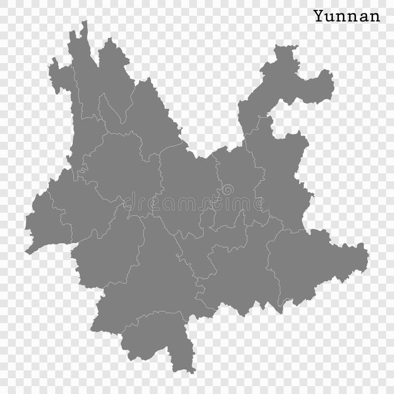 Wysokiej Jakości mapy prowincja Chiny royalty ilustracja
