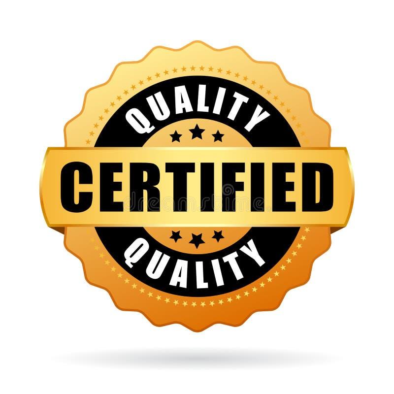 Wysokiej jakości poświadczająca produktu wektoru ikona ilustracji