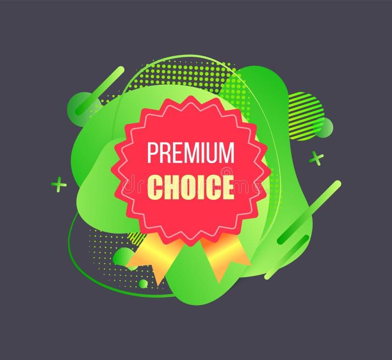 Wysokiej Jakości, premia wybór, Reklamowy wektor ilustracja wektor