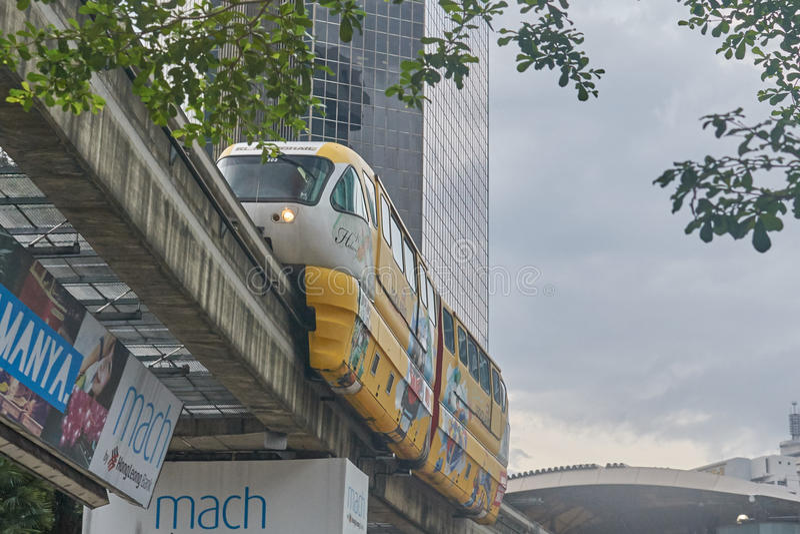 Wysokiej prędkości Jednoszynowy pociąg obrazy stock