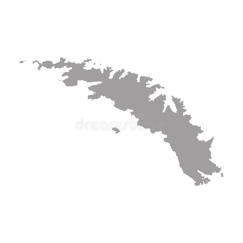 Wysokość wyszczególniał błękitną mapę Południowy Gruzja i Południowej kanapki wyspy royalty ilustracja