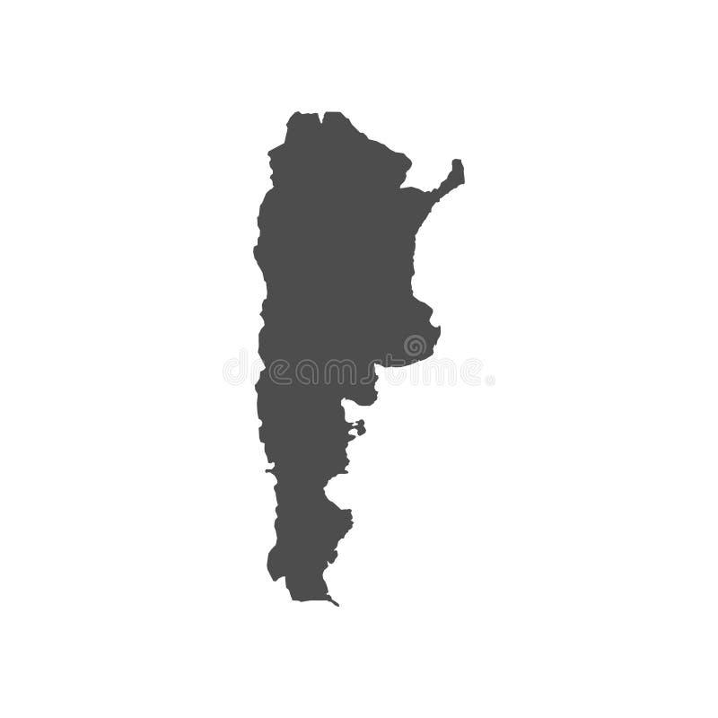 Wysoko?? wyszczeg?lniaj?ca wektorowa mapa Argentyna - wektor royalty ilustracja
