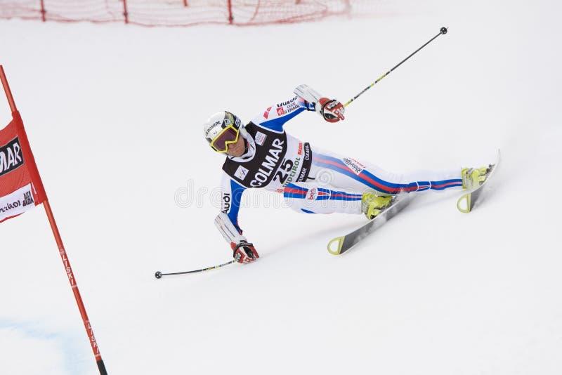 wysokogórski Alta badia filiżanki giganta narty slalomu świat zdjęcia stock