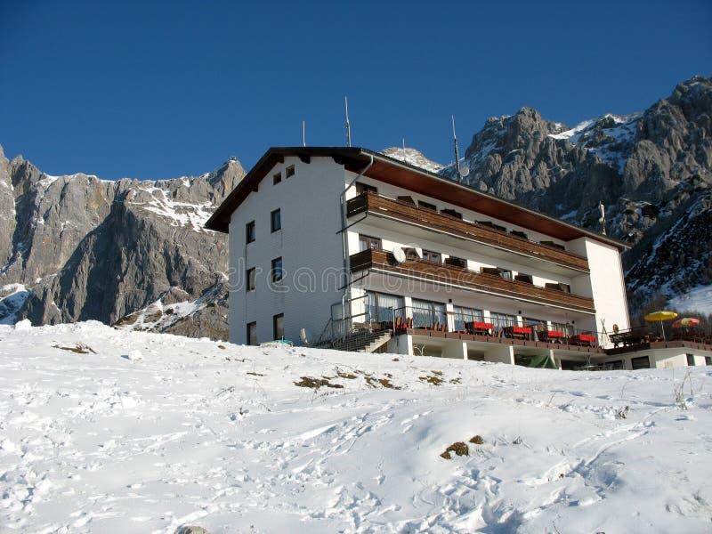 wysokogórski hotel zdjęcia royalty free