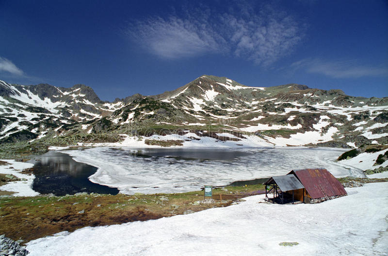 wysokogórski jezioro zdjęcie stock