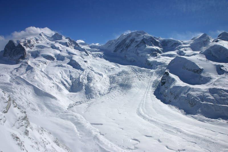 wysokogórski lodowiec fotografia stock