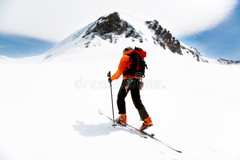 wysokogórski turystyki zdjęcie royalty free