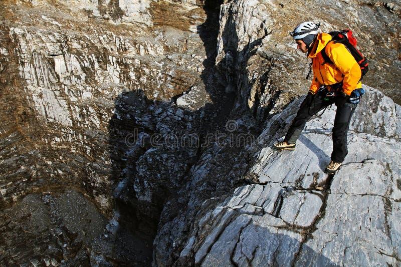 wysokogórzec wspinaczkowy eiger szczyt zdjęcie royalty free
