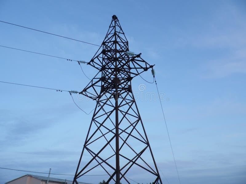Wysokonapięciowa linia energetyczna zdjęcie stock