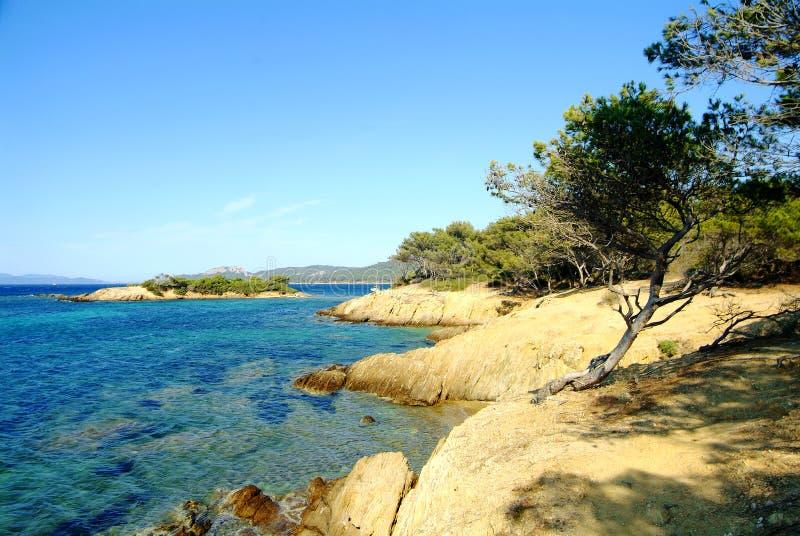 wysp porquerolles fotografia stock