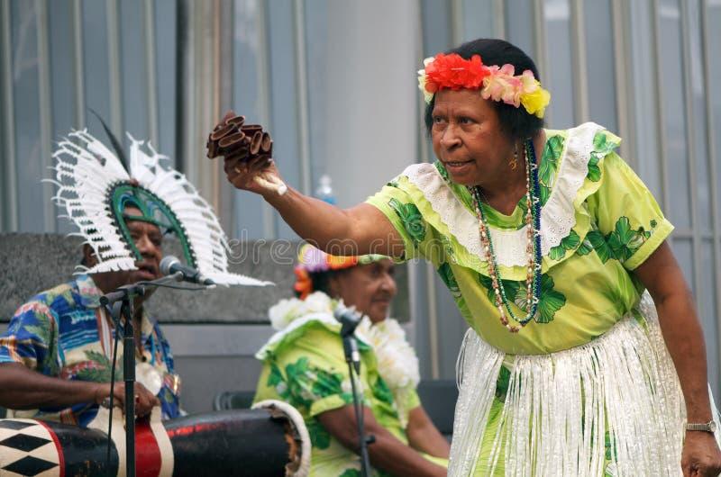 wysp występu cieśniny torres tradycyjni fotografia stock