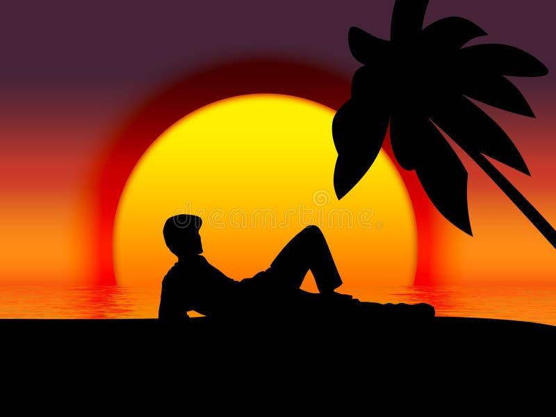 Download Wyspa ilustracji. Ilustracja złożonej z wakacje, plaża - 132990