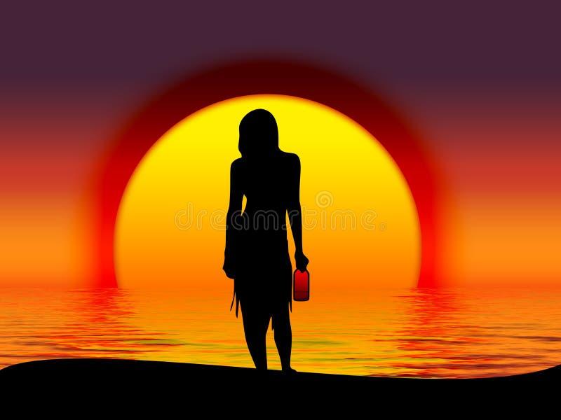 Download Wyspa ilustracji. Ilustracja złożonej z ilustracje, dziewczyna - 133043
