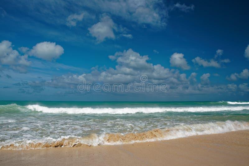 Wyspa boa Vista w przylądku Verde, krajobraz - nadmorski obrazy royalty free