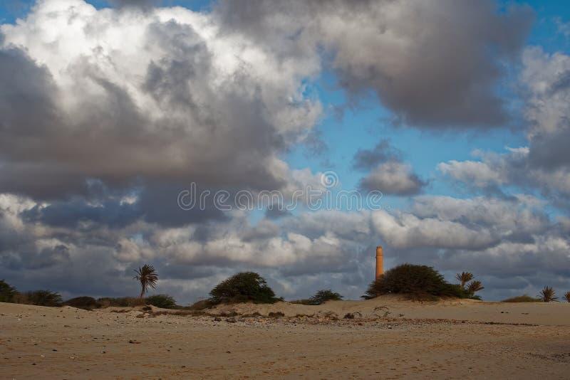 Wyspa boa Vista w przylądku Verde, krajobraz - nadmorski obraz stock