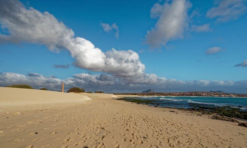 Wyspa boa Vista w przylądku Verde, krajobraz - nadmorski zdjęcie royalty free