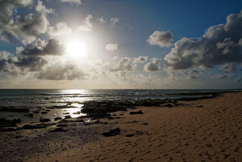 Wyspa boa Vista w przylądku Verde, krajobraz - nadmorski fotografia royalty free
