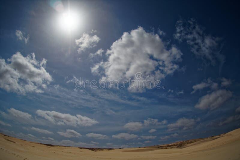 Wyspa boa Vista w przylądku Verde, krajobraz - nadmorski fotografia stock