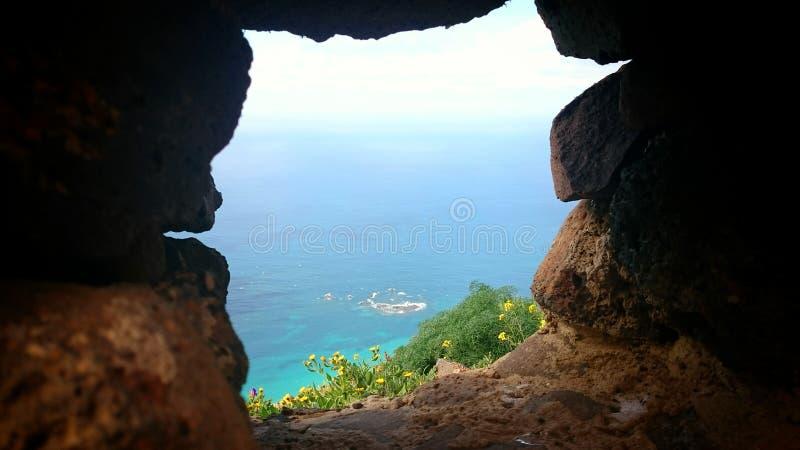 Wyspa chociaż ściana zdjęcie stock