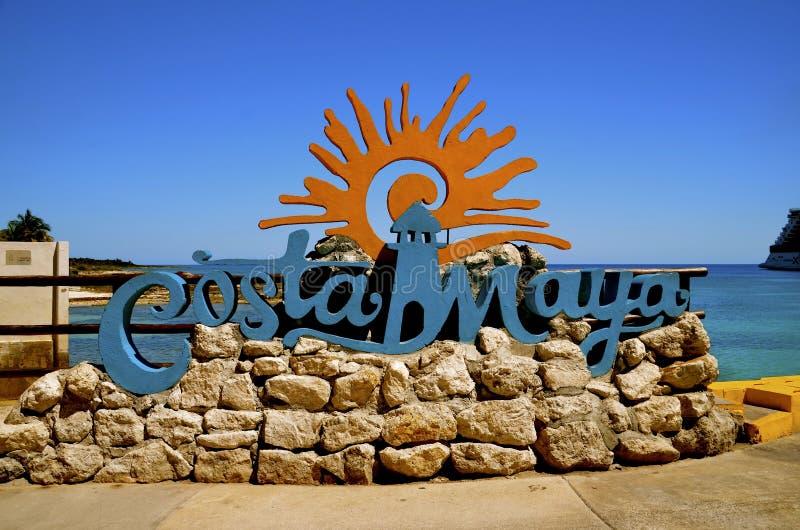 Wyspa Costa majowia znak obrazy royalty free