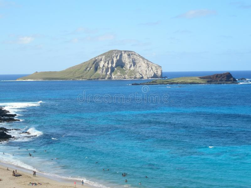 Wyspa daleko Oahu Hawaje obrazy royalty free