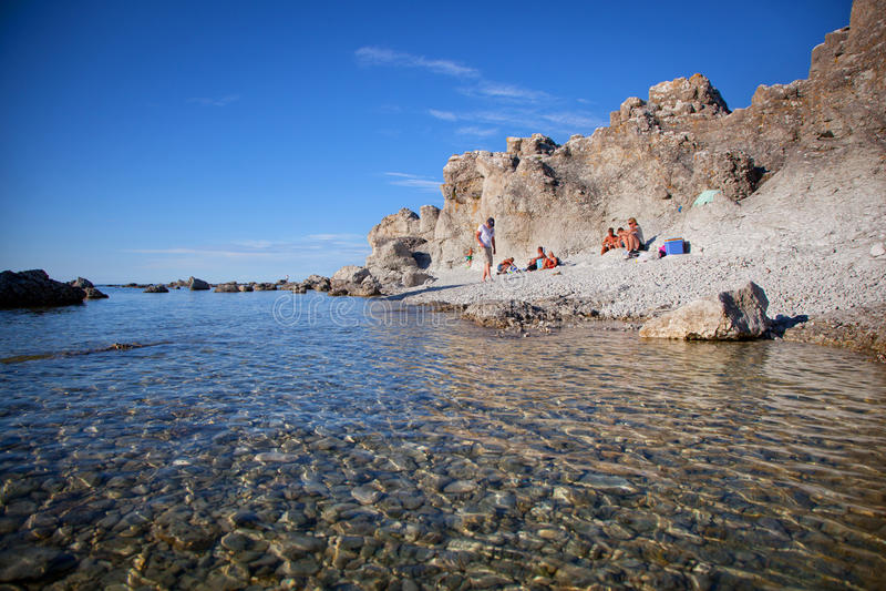 Wyspa Gotland w morzu bałtyckim zdjęcia royalty free