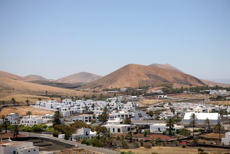 wyspa kanaryjska kształtują teren Lanzarote Spain obraz royalty free