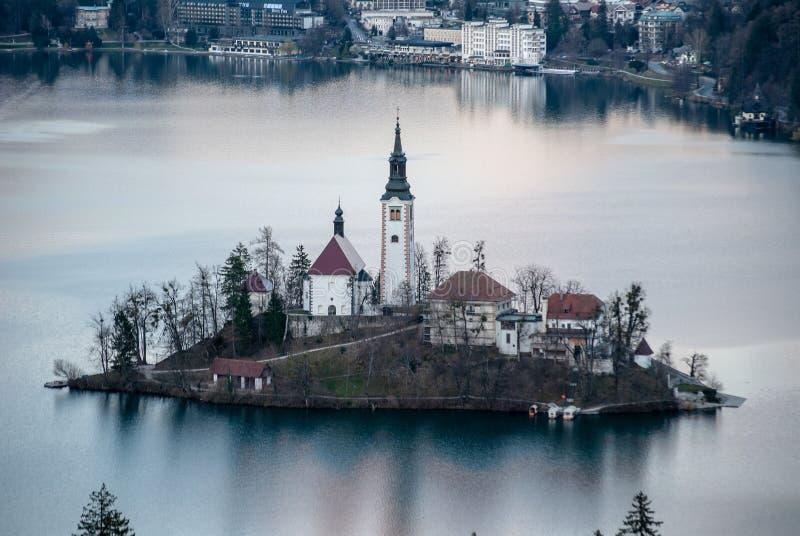Wyspa Krwawiąca jezioro zdjęcia royalty free