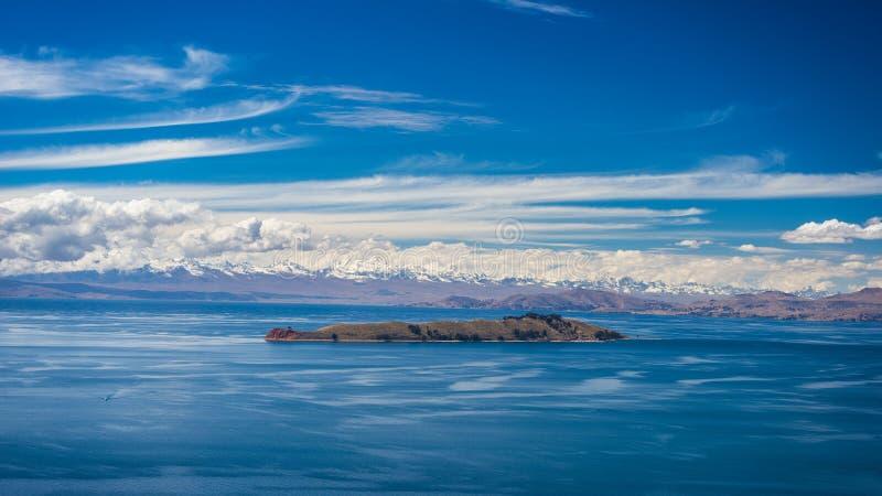 Wyspa księżyc, Titicaca jezioro, Boliwia fotografia stock
