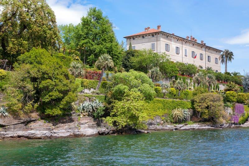 Wyspa Madre Stresa Jeziorny Maggiore Włochy zdjęcie royalty free