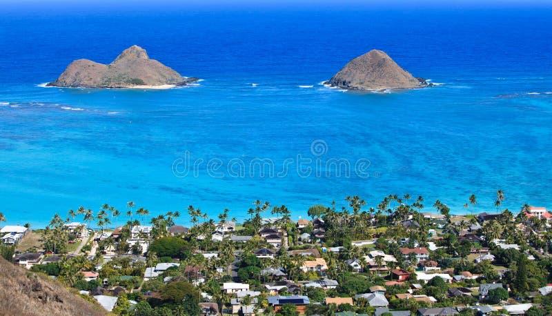 wyspa ocean tropikalni dwa zdjęcia royalty free