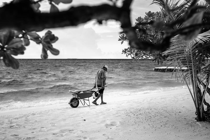 Wyspa pracownik obrazy stock