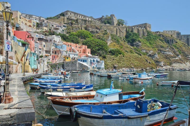 Wyspa Procida, w południowym Włochy zdjęcie royalty free