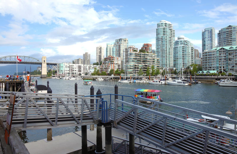 wyspa przewozi granville wyspy terminal Vancouver obraz royalty free