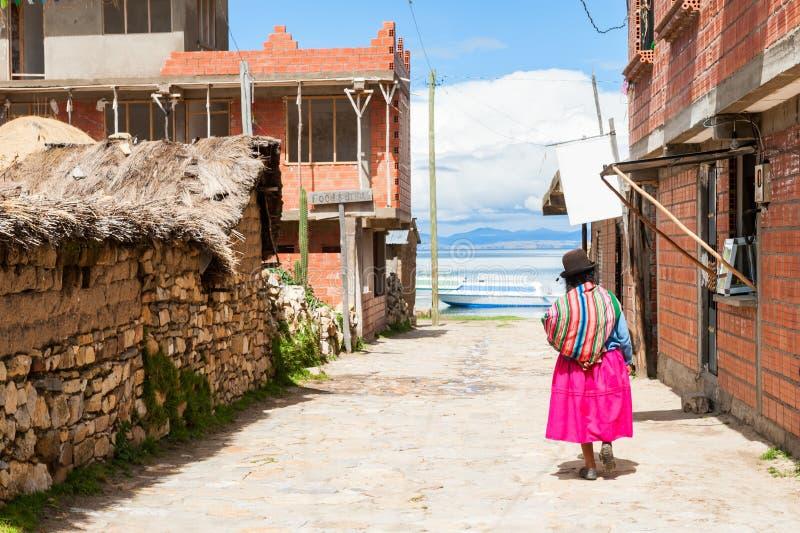 Wyspa Słońce Isla Del Zol, Titicaca jezioro, Boliwia obrazy royalty free