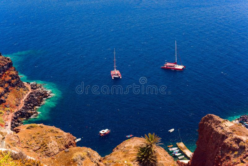 Wyspa Santorini zdjęcia royalty free