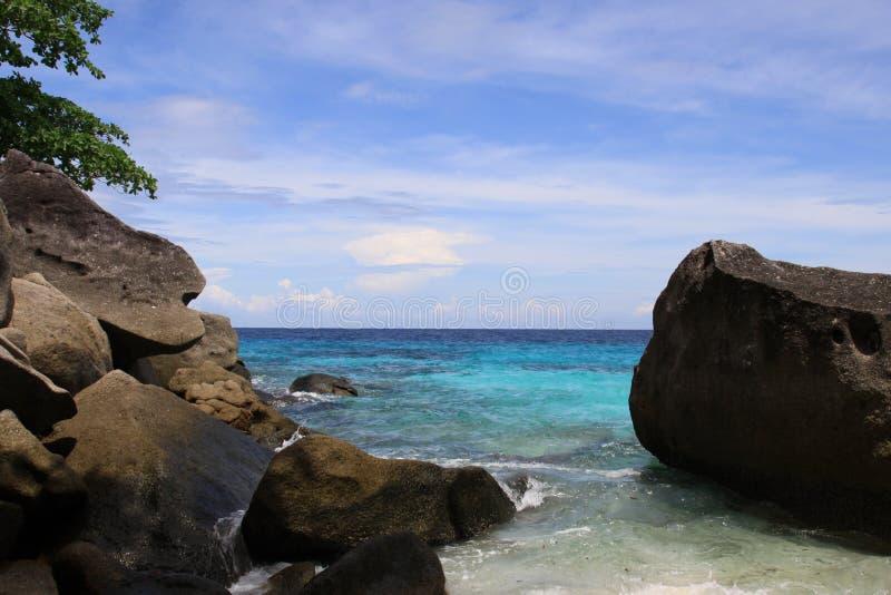 wyspa similan zadziwiająca plaża fotografia stock
