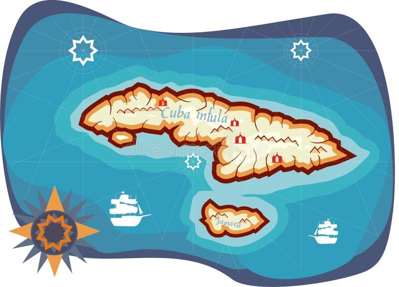 wyspa skarbów ilustracja wektor