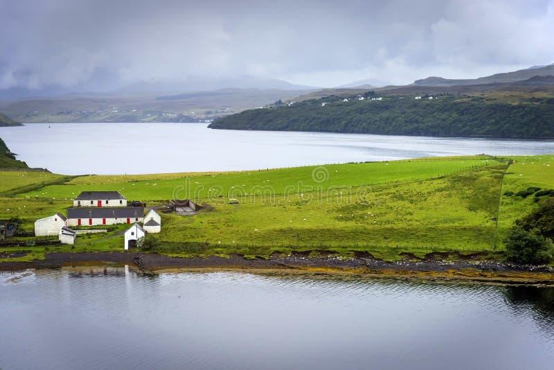 Wyspa Skye sceneria, Szkocja obraz stock