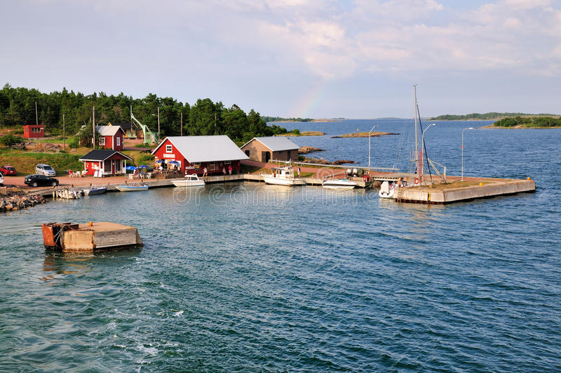 Wyspa Sottunga, blisko Aland, w Finlandia obraz royalty free