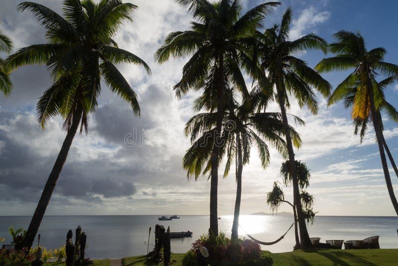 wyspa tropikalny słońca drucik Beqa wyspa obrazy royalty free