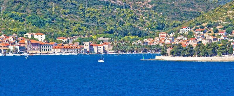 Wyspa Vis nadbrzeża panorama obrazy royalty free